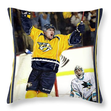 He Shoots He Scores Throw Pillow by Don Olea