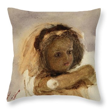Head Of A Child Throw Pillow