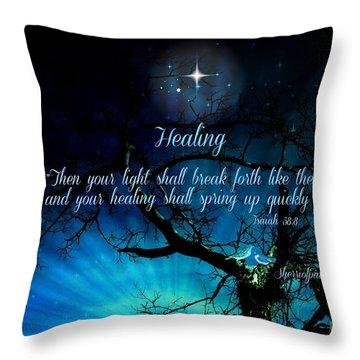 Healing Art By Sherri Of Palm Springs Throw Pillow