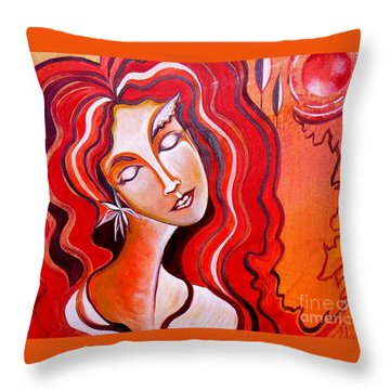 Heart Of Fire Throw Pillow