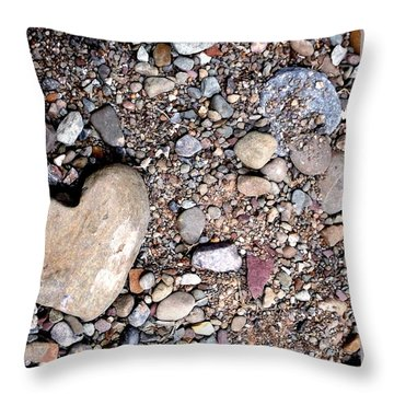 Heart Of Stone Throw Pillow by Danielle R T Haney