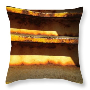 Throw Pillow featuring the photograph Heavy Metal by Olivier Calas