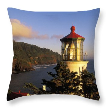 Heceta Head Lighthouse Throw Pillow by Greg Vaughn - Printscapes