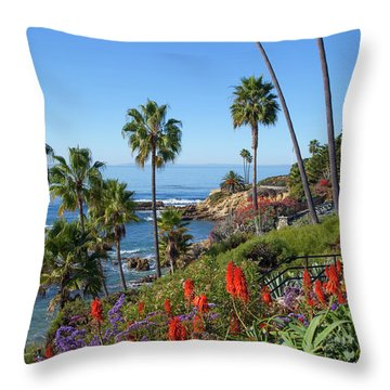 Heisler Park, Laguna Beach Throw Pillow