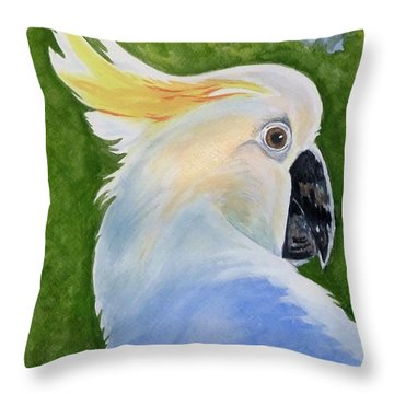 Hello, Cocky Throw Pillow
