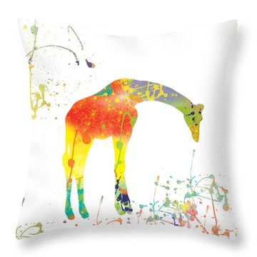 Throw Pillow featuring the digital art Hello by Trilby Cole