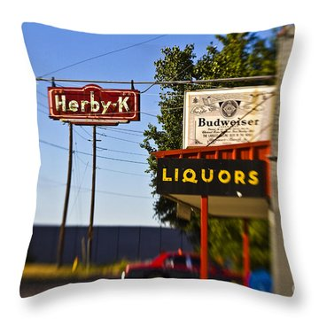 Herby K Throw Pillow by Scott Pellegrin