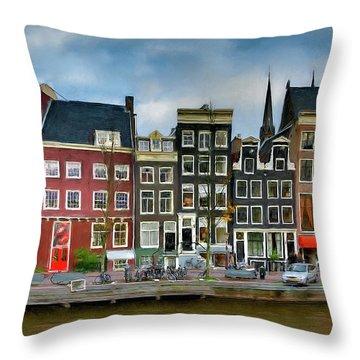 Herengracht 411. Amsterdam Throw Pillow