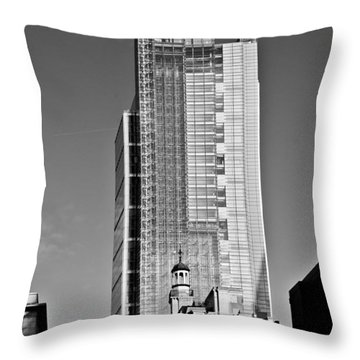 Heron Tower London Black And White Throw Pillow