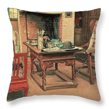 Hide And Seek Throw Pillow by Carl Larsson