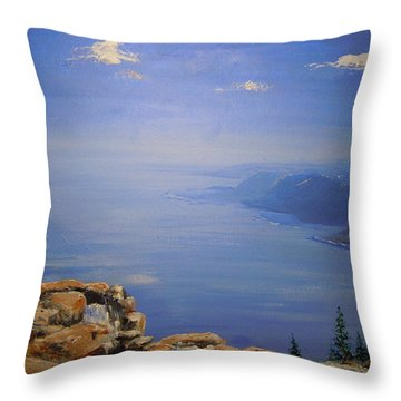 Throw Pillow featuring the painting High Above by Dan Whittemore