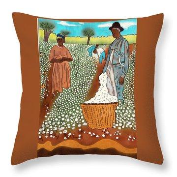 High Cotton Throw Pillow