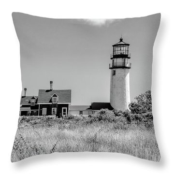 Highland Light - Cape Cod Throw Pillow by Peter Ciro