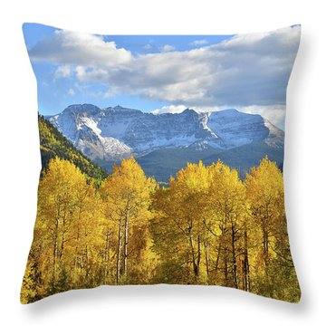Throw Pillow featuring the photograph Highway 145 Colorado by Ray Mathis