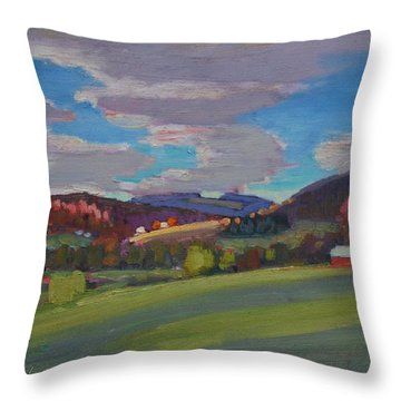 Hills Of Upstate New York Throw Pillow