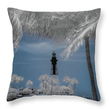 Throw Pillow featuring the photograph Hillsboro Inlet Lighthouse by Louis Ferreira