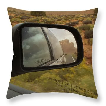 Hindsight Throw Pillow by Rhonda McDougall