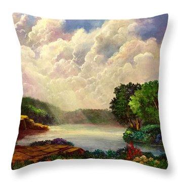 His Divine Creation Throw Pillow