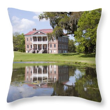 Historic Drayton Hall In Charleston South Carolina Throw Pillow by Dustin K Ryan