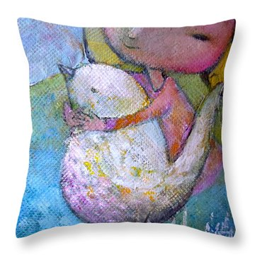 Hold Your Peace Throw Pillow by Eleatta Diver