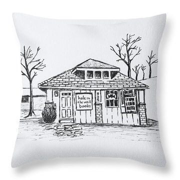 Hole In The Wall Books Throw Pillow