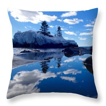 Hollow Rock Reflections Throw Pillow by Sandra Updyke