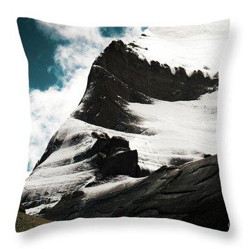 Holy Kailas Fragment Himalayas Tibet Yantra.lv Throw Pillow
