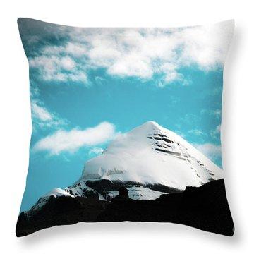 Holy Kailas Himalayas Mountain Tibet Yantra.lv Throw Pillow