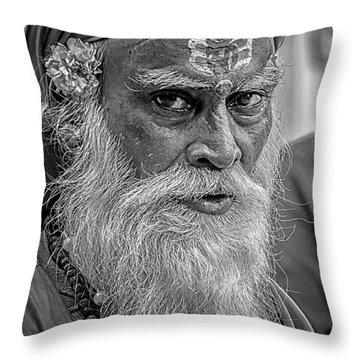 Holy Man Throw Pillow