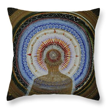 Throw Pillow featuring the painting Holy Moly #10 by Kym Nicolas