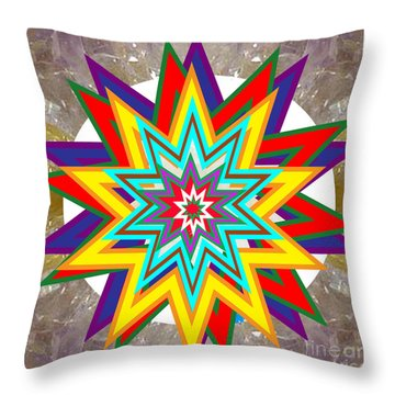 Holy Star White Purple Blue On Crystal Stone Marble Unique Shades Tones Textures Buy Wall Decoration Throw Pillow