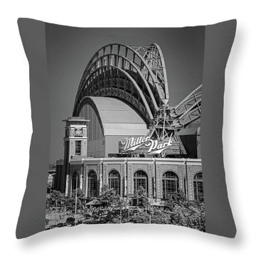 Home Of The Milwaukee Brewers Throw Pillow