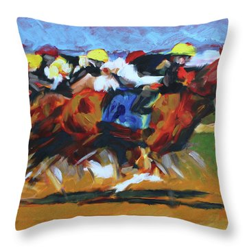 Home Stretch Throw Pillow