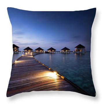 Throw Pillow featuring the photograph Honeymooners Paradise by Hannes Cmarits