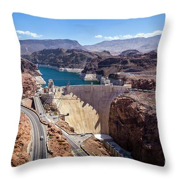 Hoover Dam Throw Pillow by RicardMN Photography