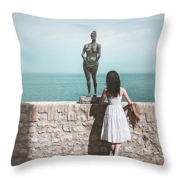 Horizon Throw Pillow by Marji Lang
