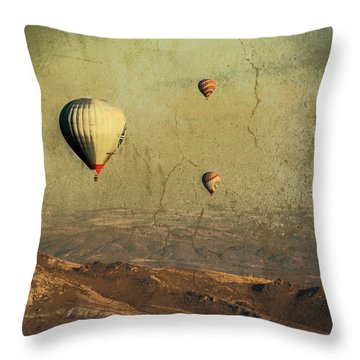 Going On A Magical Ride Throw Pillow