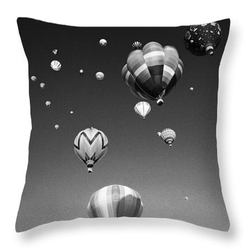 Hot Air Balloons Throw Pillow by Michael Howell - Printscapes
