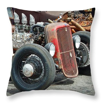 Hot Rods Throw Pillow by Steve McKinzie