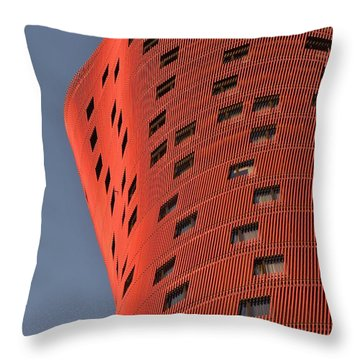 Hotel Porta Fira Barcelona Abstract Throw Pillow by Marek Stepan