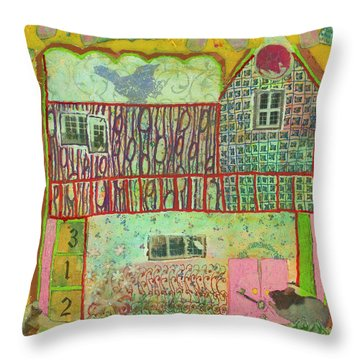 House #3 Throw Pillow
