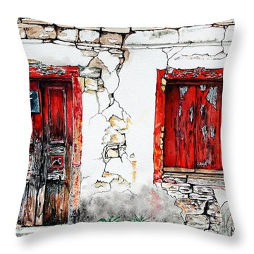 House For Sale Throw Pillow by Maria Barry