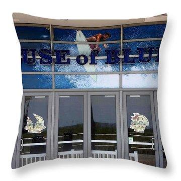 House Of Blues Throw Pillow by Allen Beilschmidt