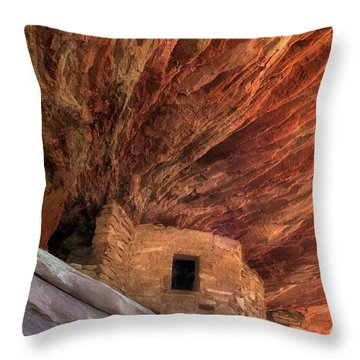House On Fire Ruins Throw Pillow by Gary Warnimont