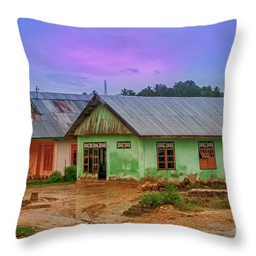 Throw Pillow featuring the photograph Houses by Charuhas Images