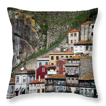 Houses Of Porto Throw Pillow