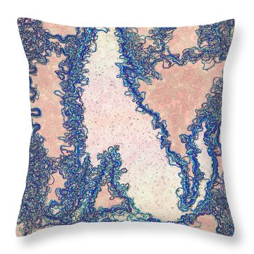 Howling The Blues Throw Pillow by Douglas Christian Larsen