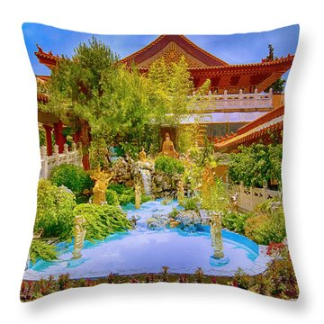 Hsi Lai Temple Throw Pillow