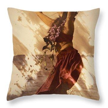 Hula On The Beach Throw Pillow