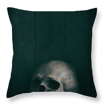 Human Skull Throw Pillow